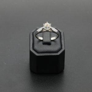 18 carat WG 1.00 carat Solitaire Diamond Ring