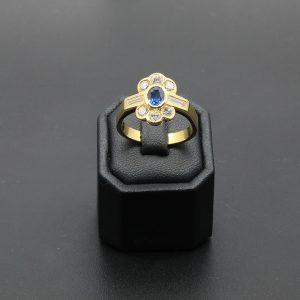 18 carat Sapphire & Diamond Ring