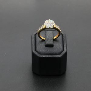 18 carat YG Diamond Cluster Ring