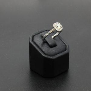 18 carat WG Diamond Halo Cluster Ring
