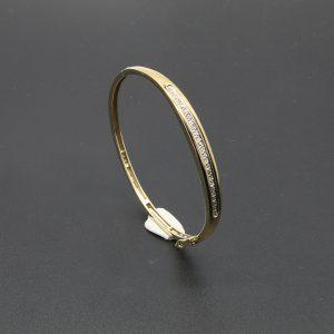 9 Carat YG Diamond Set Bangle