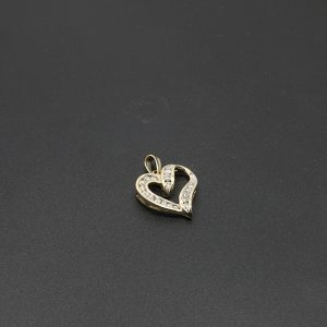 10 carat Diamond Heart Pendant