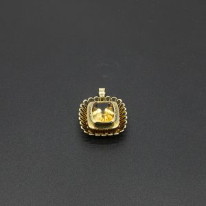 14 carat YG Citrine Fancy Pendant