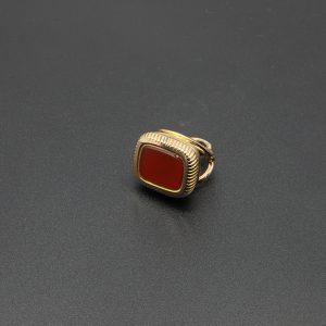 18 carat Rose Gold Carnelian Seal Pendant