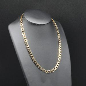 9 carat YG Flat Curb Men's Chain