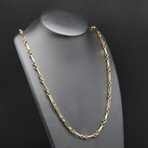 9 carat YG Fancy Link Chain