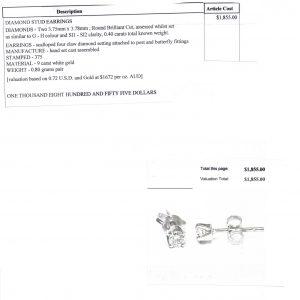 9 Carat YG .40 carat TDW Diamond Stud Earrings