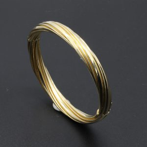 14 carat YG Rope Twist Design Bangle