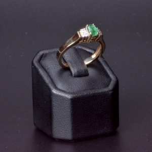 18 carat Yellow Gold  Natural Emerald & Diamond Ring