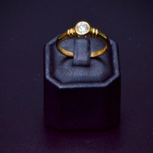 18 carat Yellow Gold Solitaire Diamond Ring