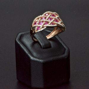 10 Carat Rose Gold Ruby & Diamond Ring