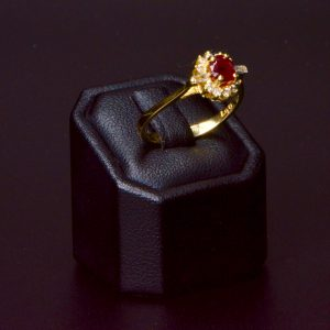 18 carat Yellow Gold Ruby & Diamond Ring