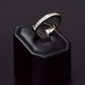 18 carat White Gold Diamond Band